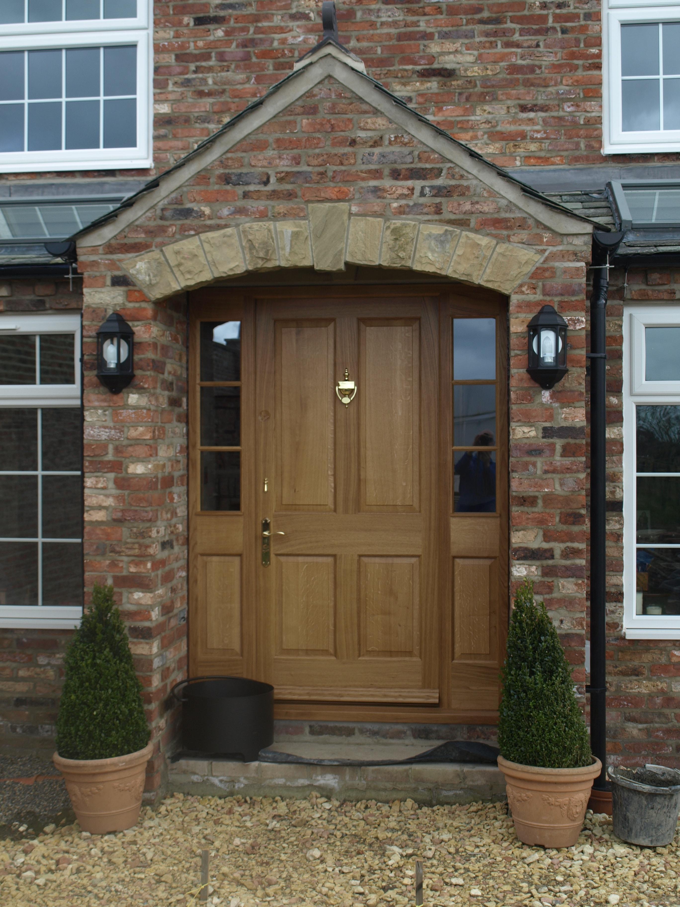 Solid Oak Front Door & Frame