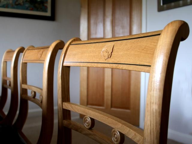 Oak Chair Back