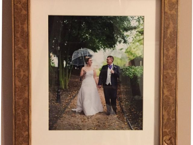 Burr Oak Picture Frame Handmade Bespoke Personalised Gifts