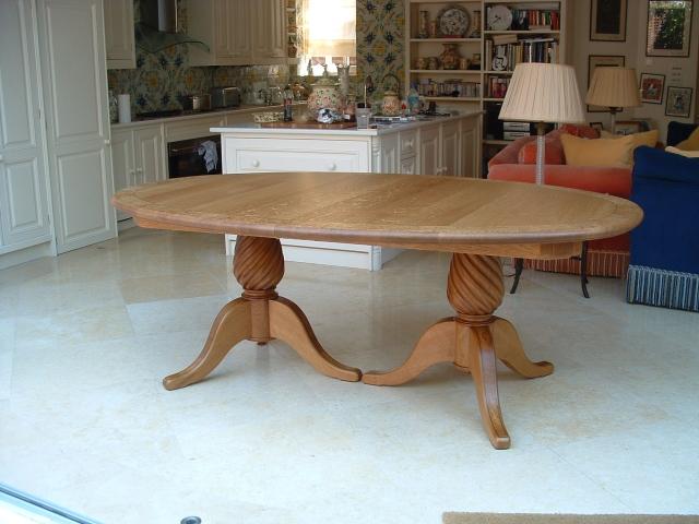 Oak Table With Burr Oak Inlay