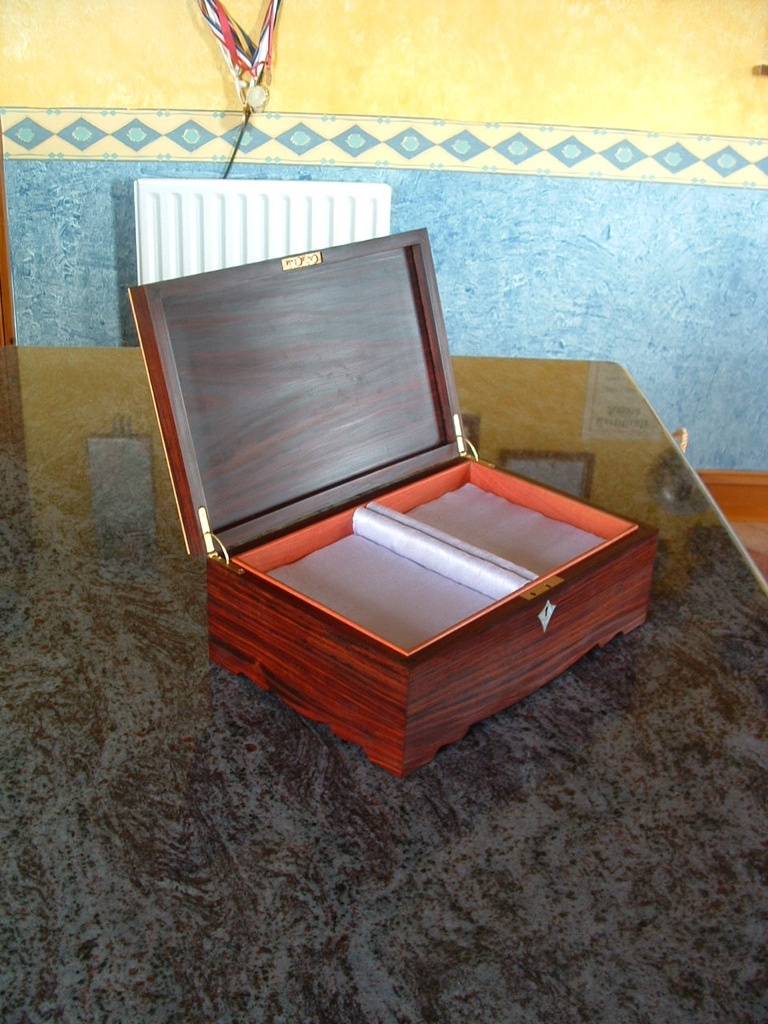 Solid Rosewood Jewellery Box Handmade Bespoke Personalised Gifts