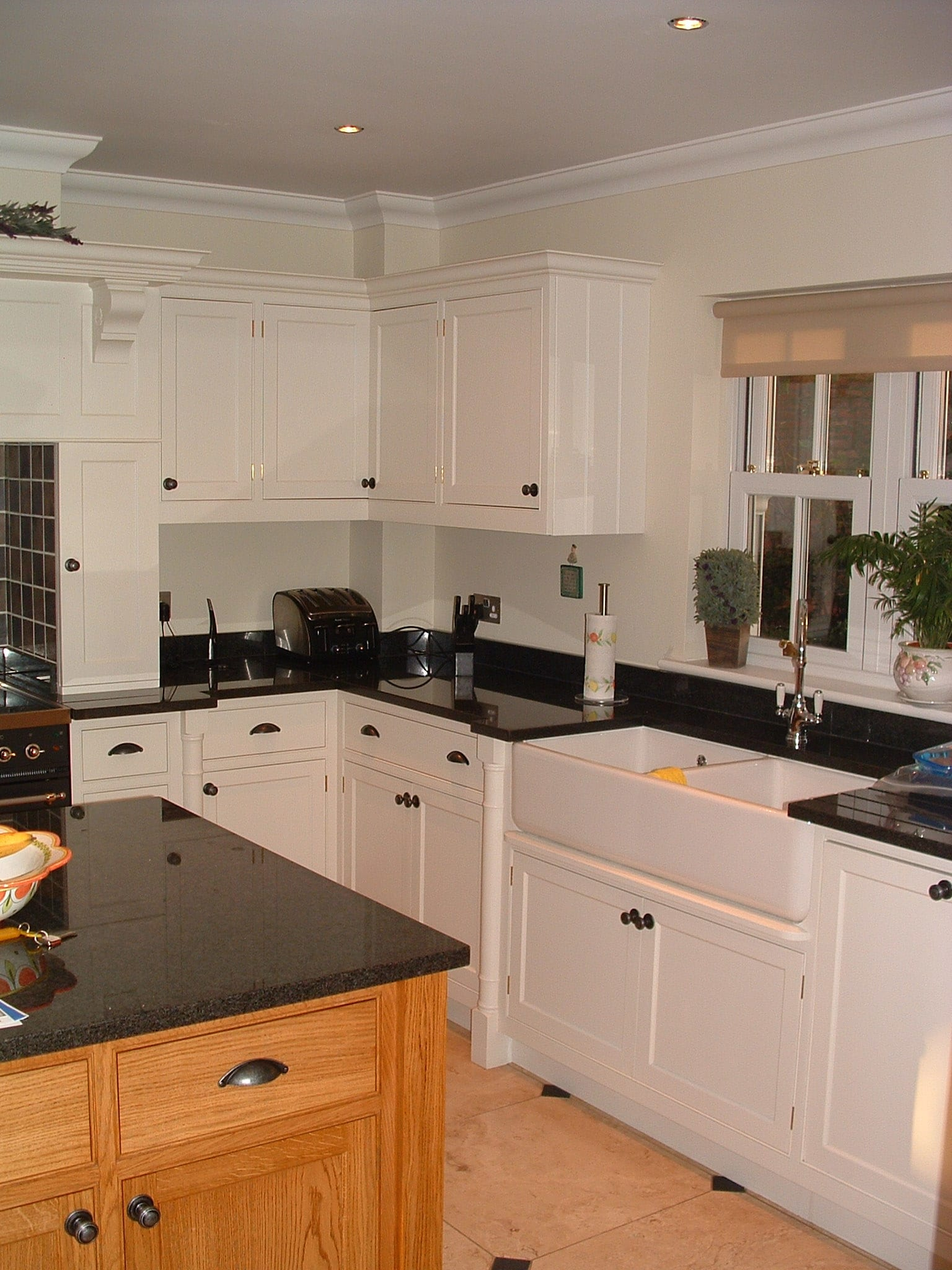 Painted & Oak Kitchen With Granite Tops