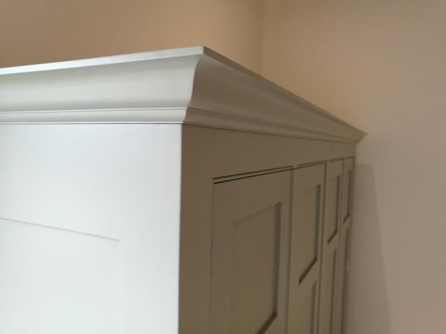 Painted Larder Unit With Bifold Doors