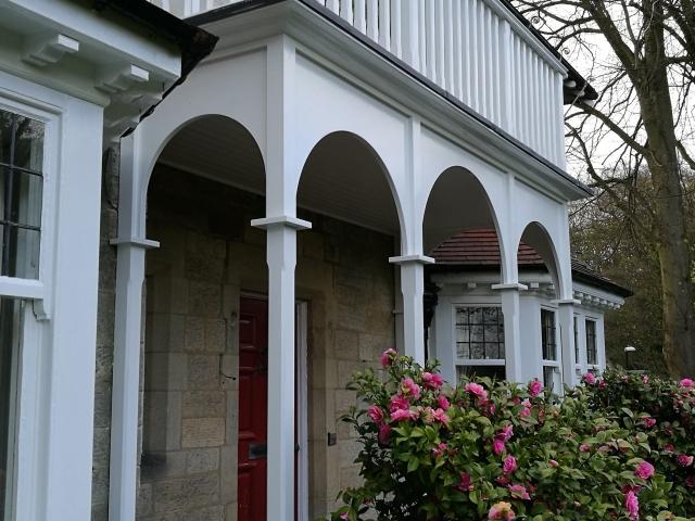 Painted Hardwood Balcony