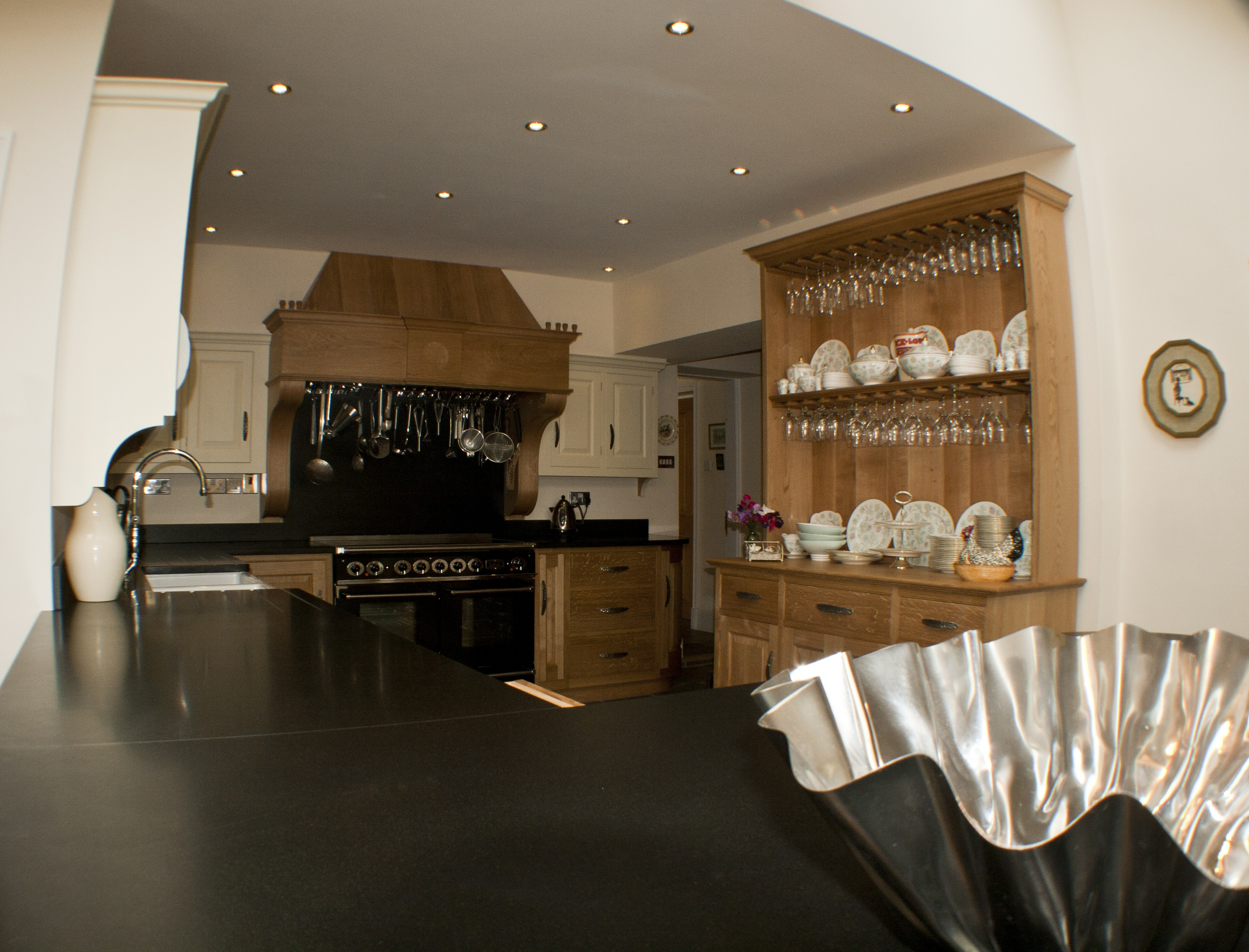Oak/Painted Kitchen With Granite Tops
