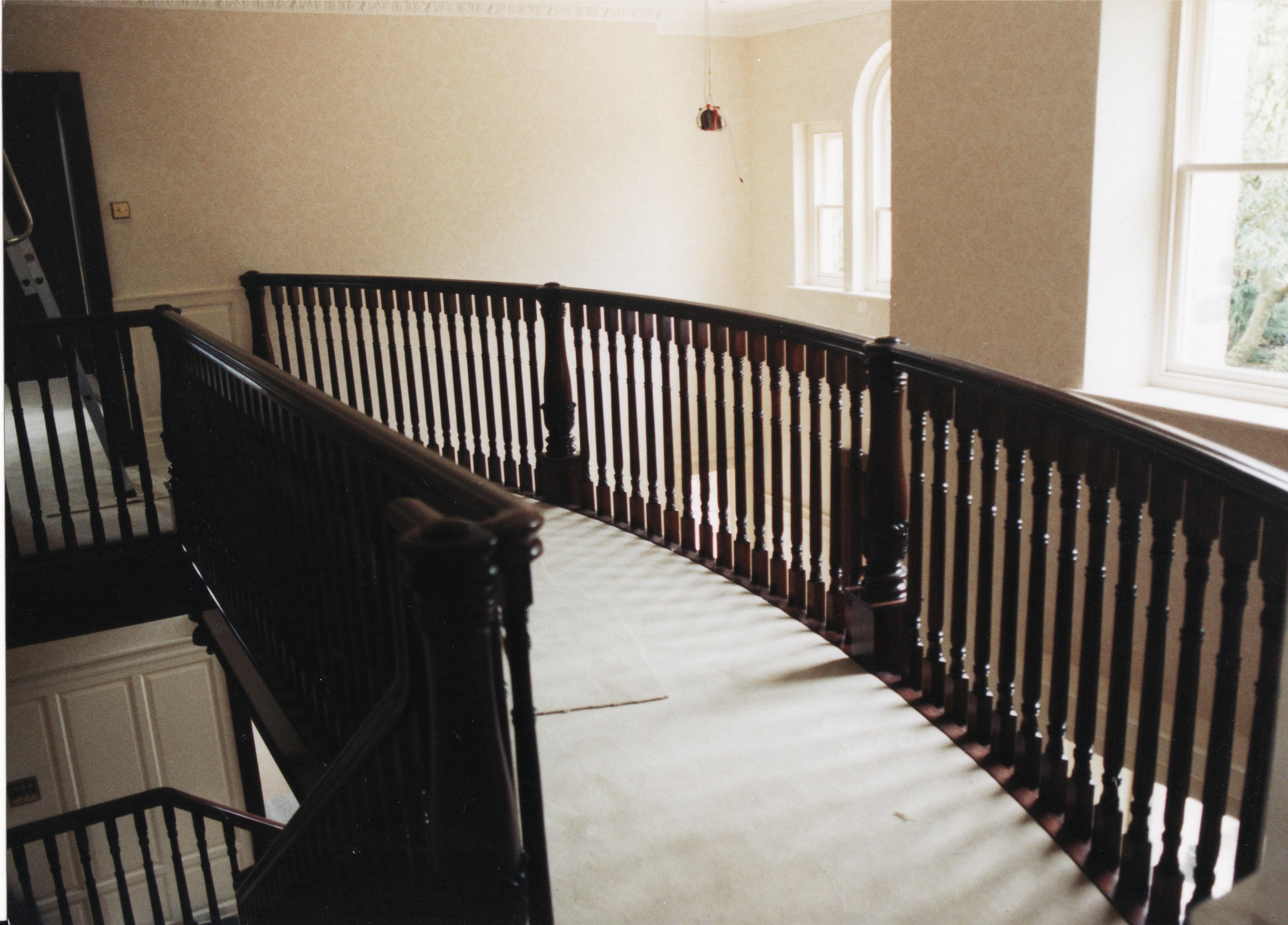 Mahogany Stairs Balcony