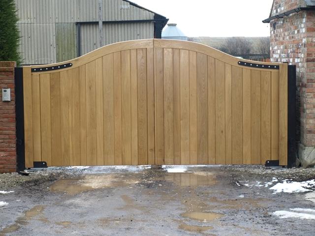 Solid Oak Boarded Entrance Gate
