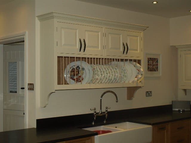 Painted Kitchen Wall Unit Plate Rack