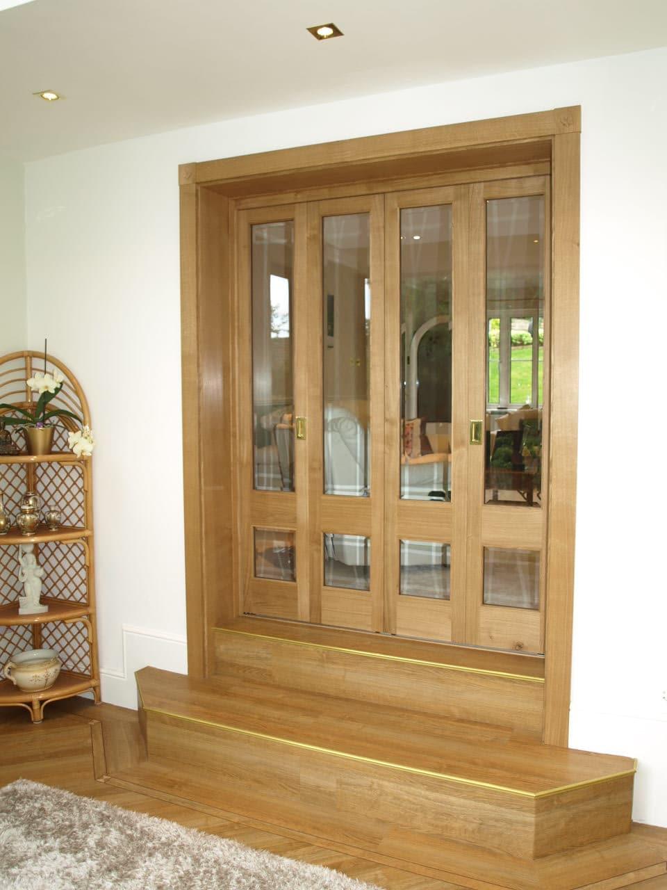 Solid Oak Room Dividing Bifold Doors