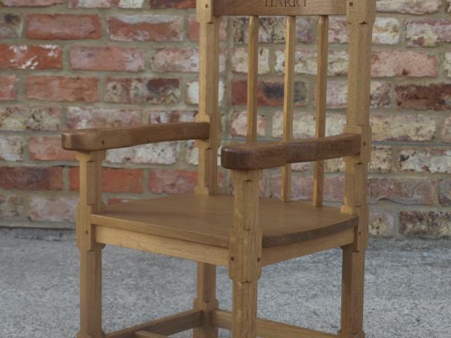 Miniature Christening Arm Chair Handmade Bespoke Personalised Gifts