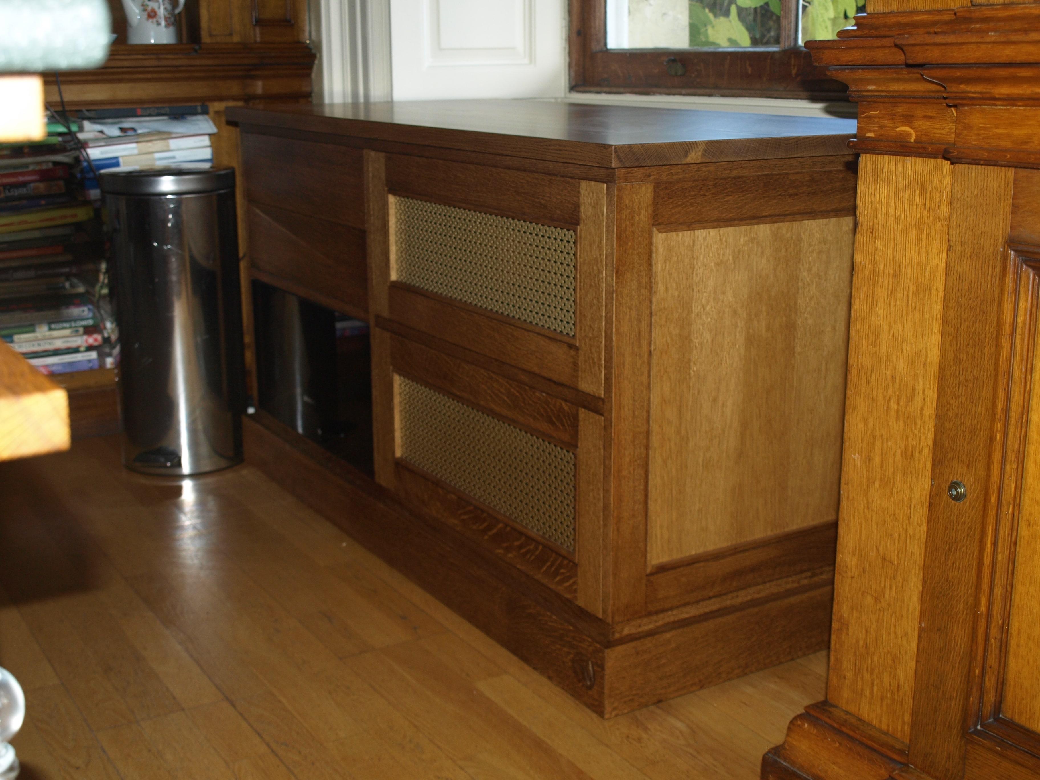 Fumed Oak Wheel About Kitchen Unit