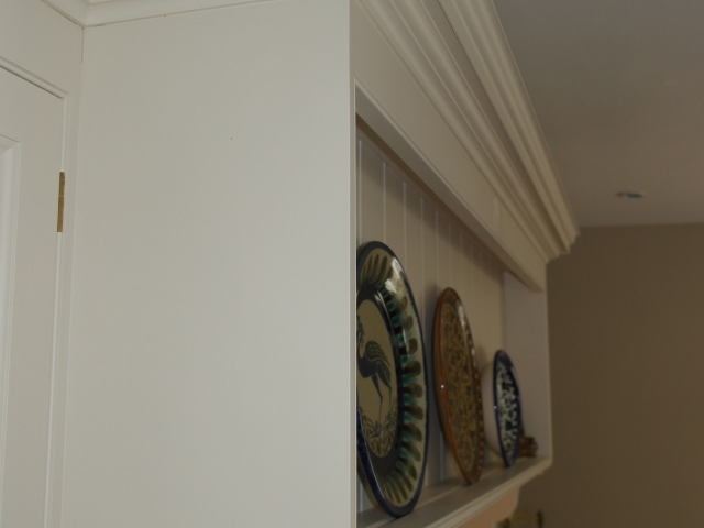 Painted Kitchen Canopy