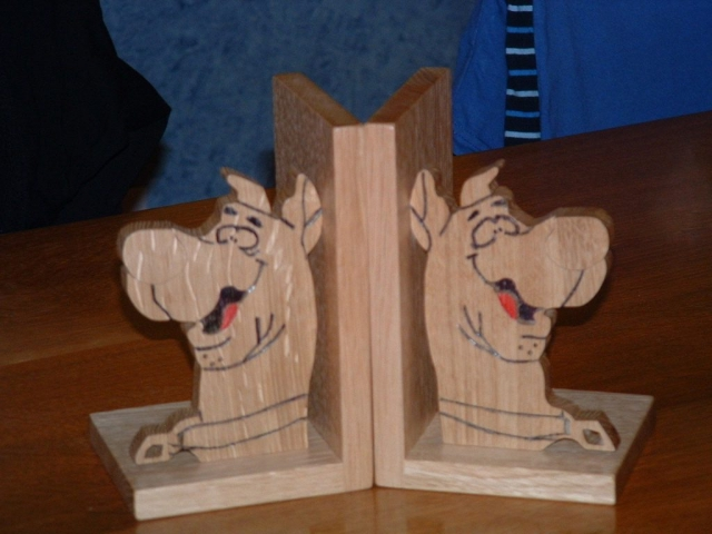 Solid Oak Scooby Doo Book Ends Handmade Bespoke Personalised Gifts