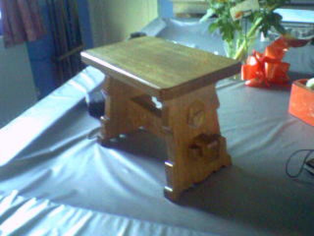 Solid Oak Christening Stool Handmade Bespoke Personalised Gifts