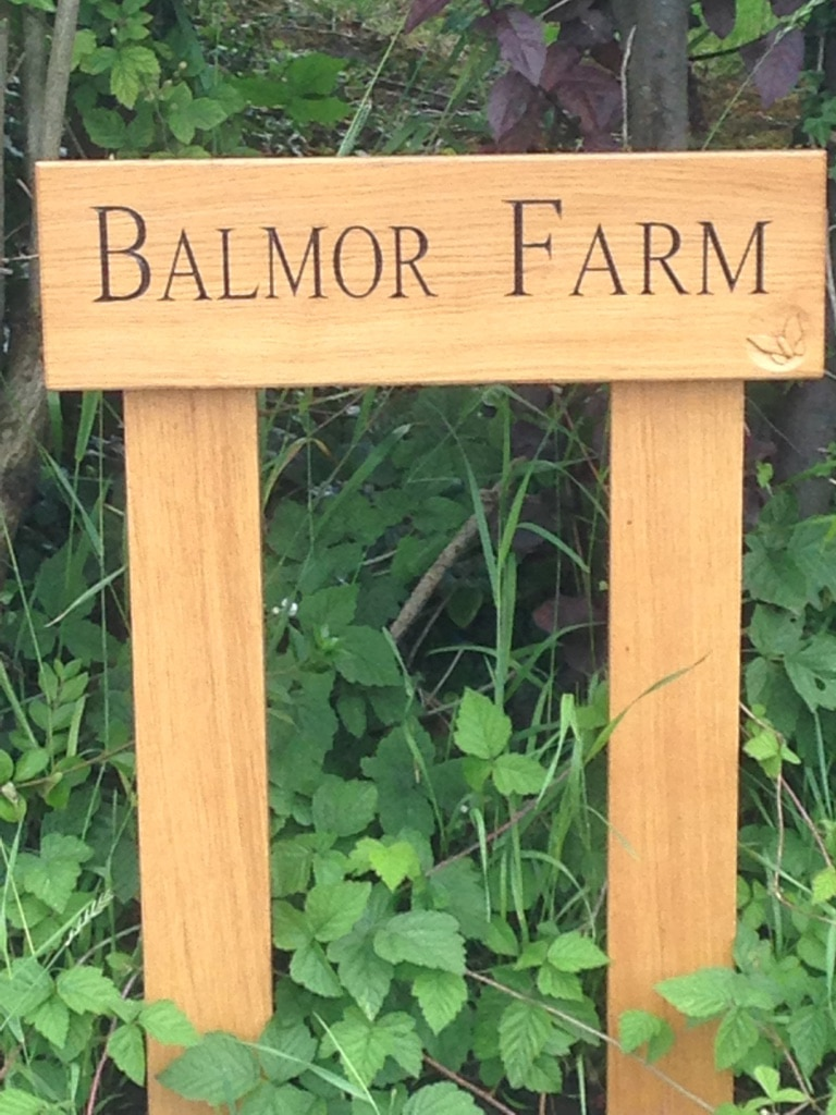 Solid Oak House Sign Handmade Bespoke Personalised Gifts