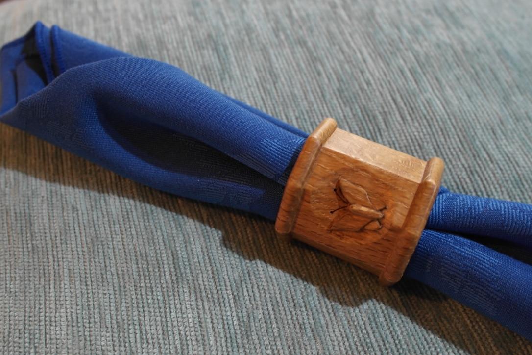Solid Oak Serviette Holder  Handmade Bespoke Personalised Gifts