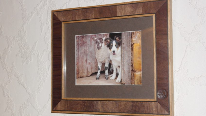 Solid Oak Picture Frame With Solid Walnut Inlay Handmade Bespoke Personalised Gifts