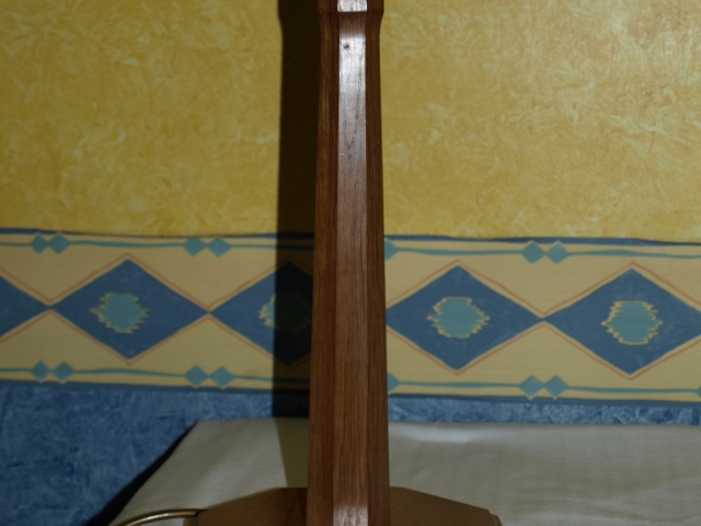 Slender Octagonal Oak Lamp Handmade Bespoke Personalised Gifts